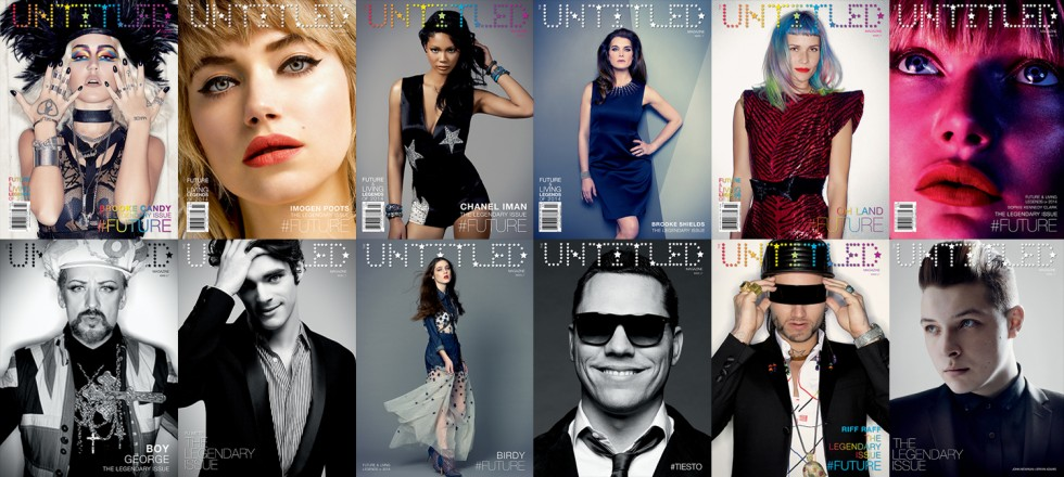 ALL COVERS fronts&back Issue 7 The Untitled Magazine