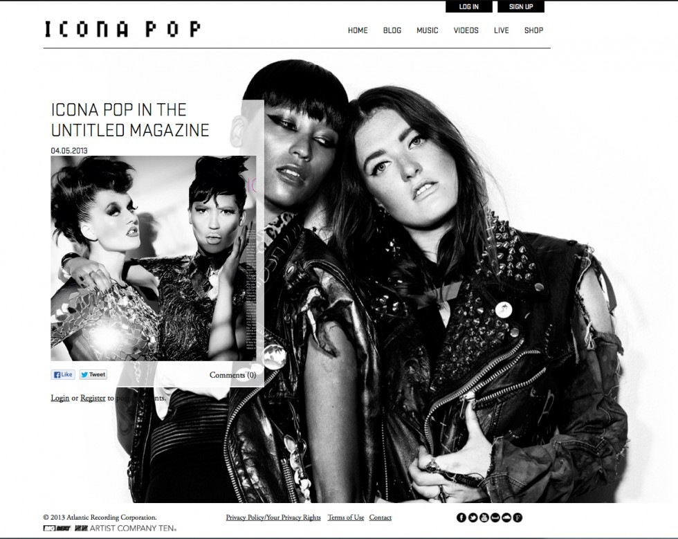 Icona Pop in The Untitled Magazine