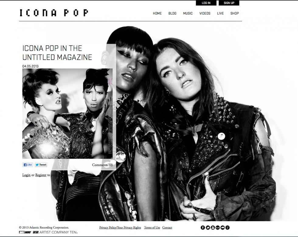 Icona Pop in The Untitled Magazine