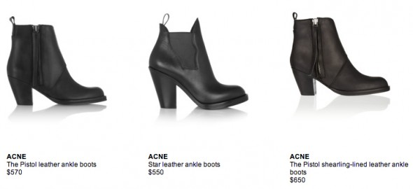 acne - boots