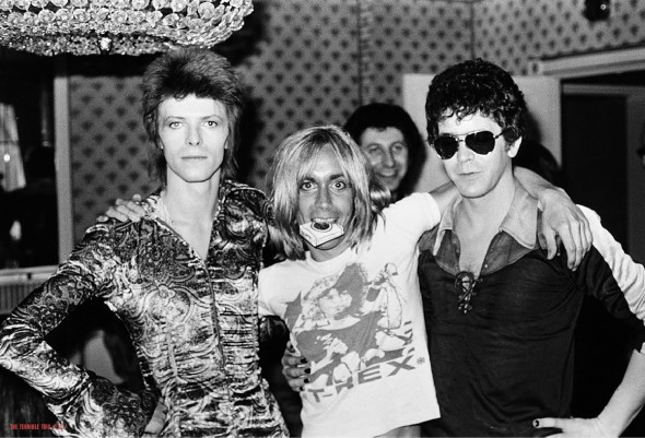David Bowie, Iggy Pop and Lou Reed in '72