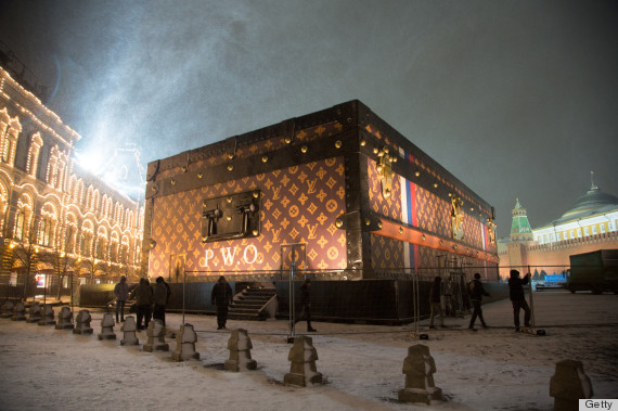 A Giant Louis Vuitton Suitcase In Moscow's Red Square