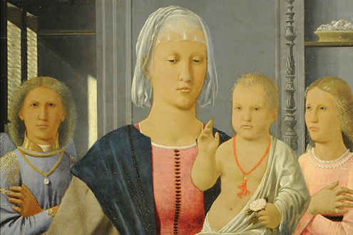 Piero della Francesca, The Senigallia Madonna and Child with Two Angels