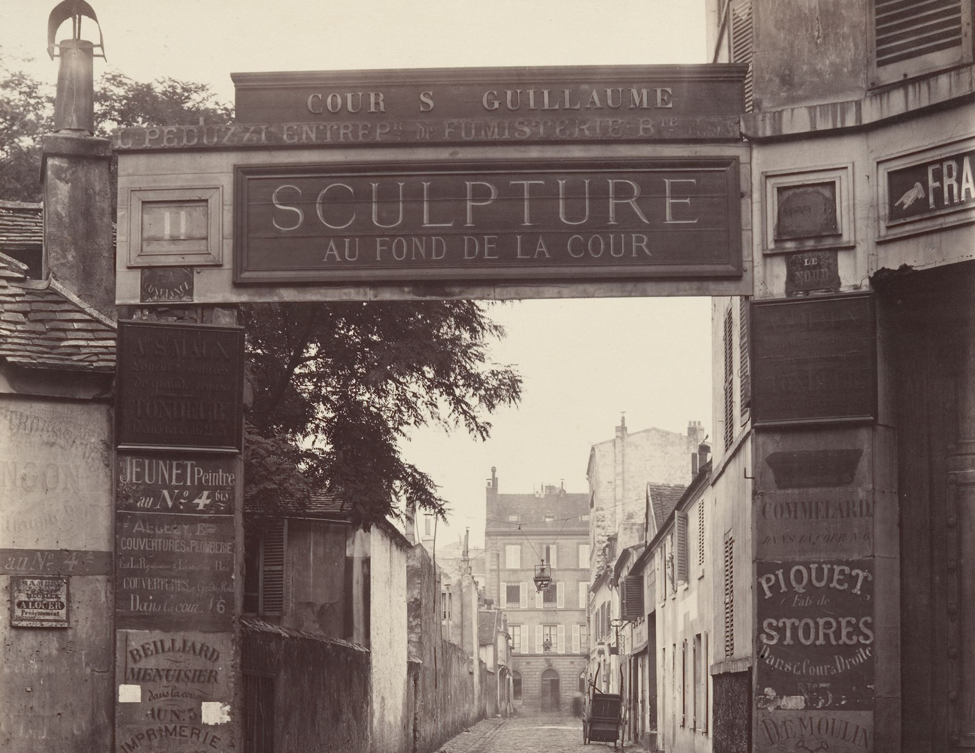 Charles Marville, Cour Saint-Guillaume (Ninth Arrondissement), 1866-67