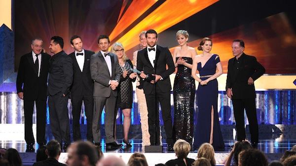 Robert De Niro, Michael Pena, Alessandro Nivola, Jeremy Renner, Colleen Camp, Elisabeth Rohm, Bradley Cooper, Jennifer Lawrence, Amy Adams, Paul Herman