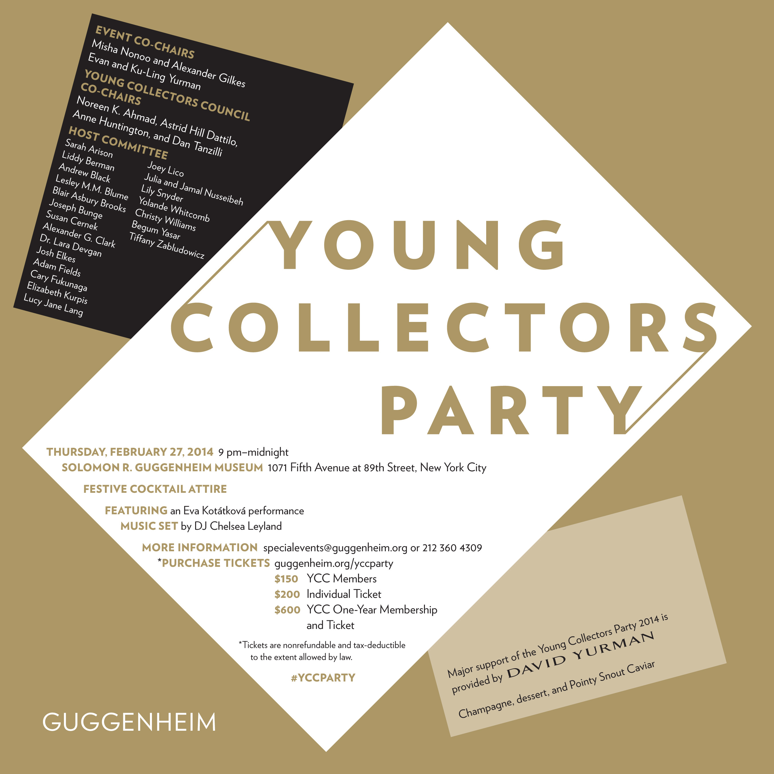 2014 Young Collectors Party Invite