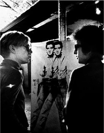 Andy Warhol with Bob Dylan