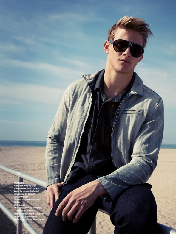 Alexander Ludwig: Photography by Indira Cesarine for The Untitled Magazine