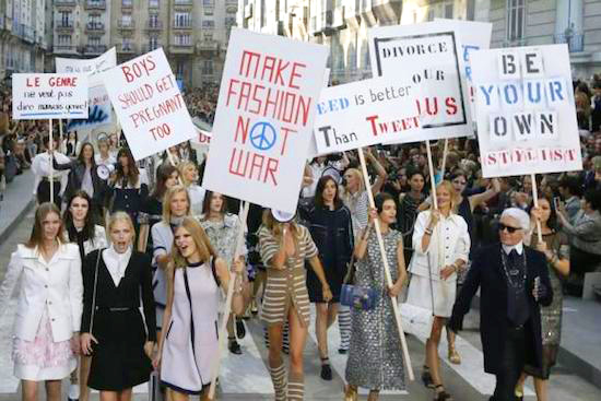 chanel protest 2