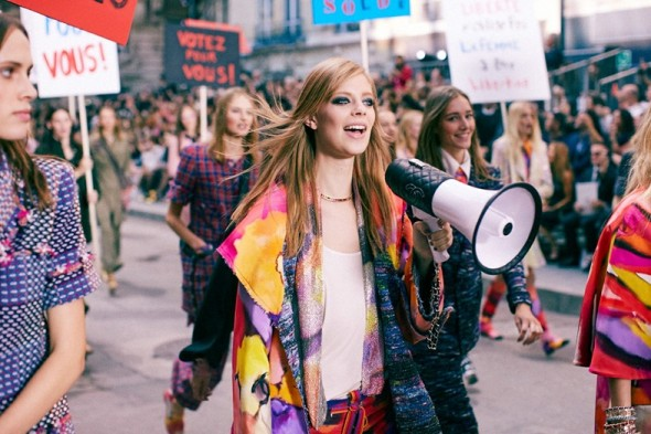 chanel protest