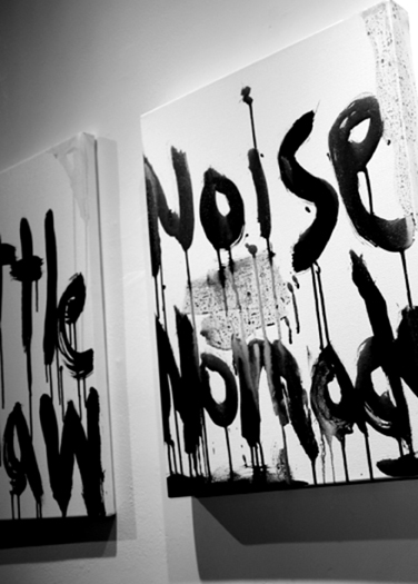 "Kim Gordon: ""Noise"" paintings"