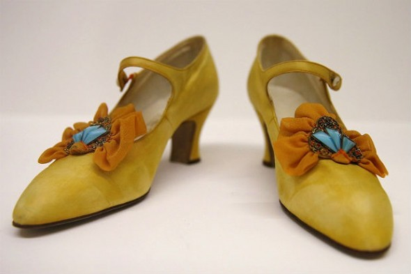 Women's shoes from the 1920s. Photo courtesy of Reuters.