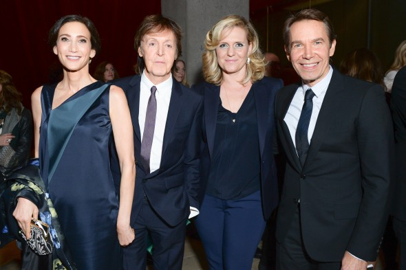 Nancy Shevell, Paul McCartney, Justine Koons, and Jeff Koons. Photo by Joe Schildhorn / BFAnyc.com