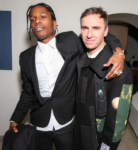 Rapper ASAP Rocky + Raf Simons, photo courtesy of BFA