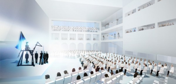 The proposed Marina Abramovic Institute.