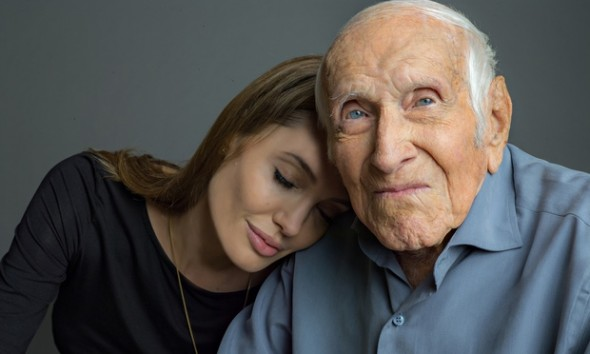 Angelina Jolie, Louis Zamperini. Photo by AP/Universal