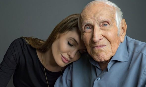 Angelina Jolie, Louis Zamperini. Photo by AP/Universal