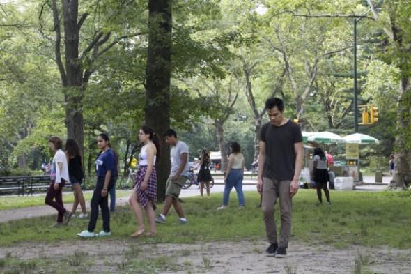 Teens Walk Slow