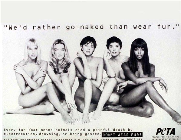Supermodels wearing no fur.
