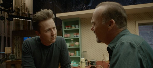 Birdman; Michael Keaton and Edward Norton