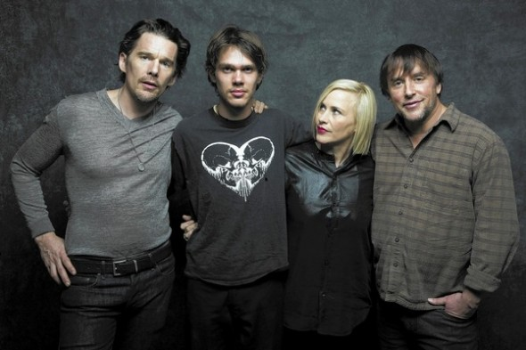 Hawke, Coltrane, Arquette and Linklater