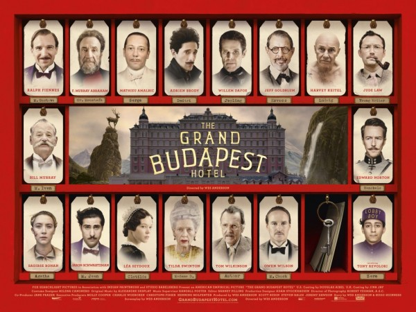 The Grand Budapest Hotel, which was nominated for 9 Academy Awards.
