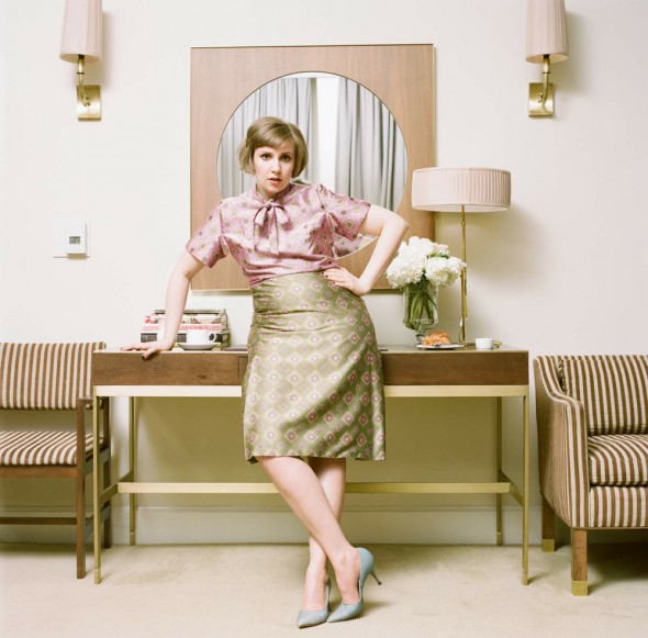 Lena Dunham cover shoot for her book Not That Kind of Girl