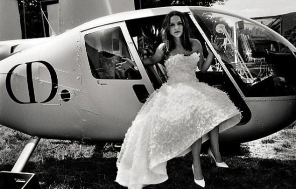 Natalie Portman Bride Miss Dior