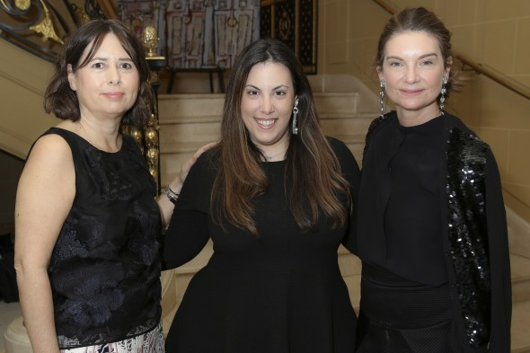 Alexandra Shulman OBE, Mary Katrantzou and Natalie Massenet MBE (Darren Gerrish, British Fashion Council)