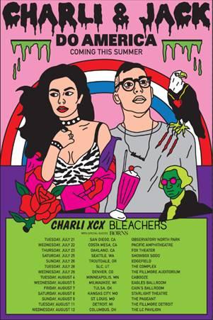 CharliXCX_Bleachers_tour
