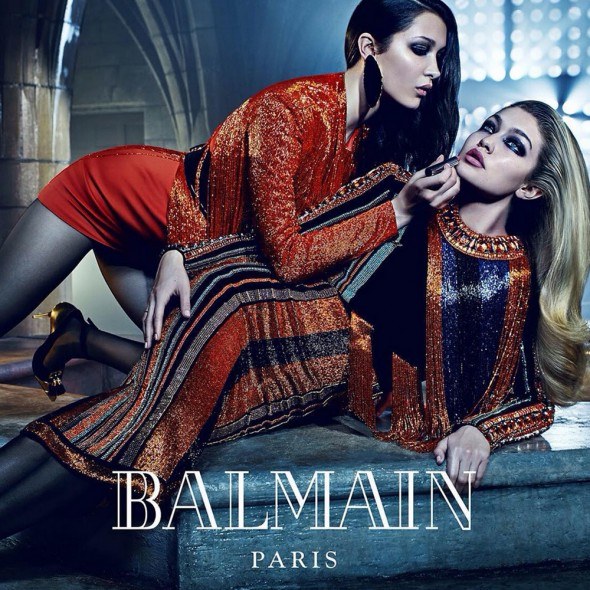 Gigi and Bella Hadid for Balmain Fall 2015