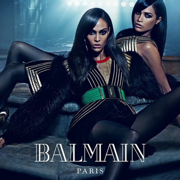 Joan and Erika Smalls for Balmain Fall 2015