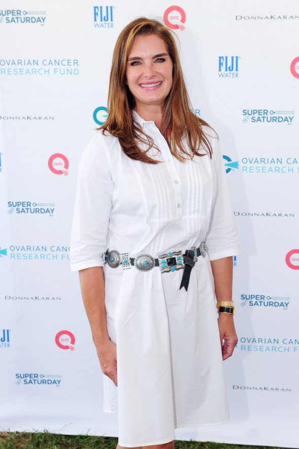 Brooke Shields==OCRF's 18th Annual Super Saturday NY Hosted by Donna Karan and Kelly Ripa==Nova's Ark Project, Watermill, NY==July 25, 2015 ==©Patrick McMullan ==Photo - Owen Hoffmann/patrickmcmullan.com====