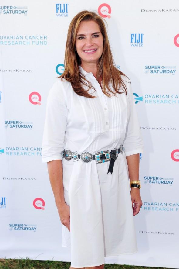Brooke Shields==OCRF's 18th Annual Super Saturday NY Hosted by Donna Karan and Kelly Ripa==Nova's Ark Project, Watermill, NY==July 25, 2015 ==©Patrick McMullan ==Photo - Owen Hoffmann/patrickmcmullan.com====