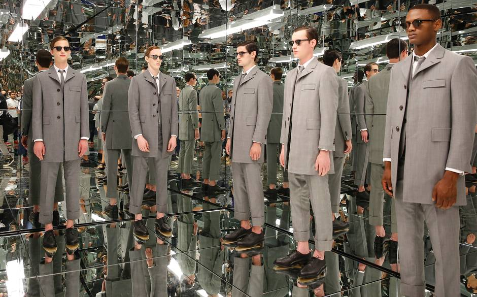 Thom Browne's Spring/Summer 2016 presentation. Image: telegraph.co.uk