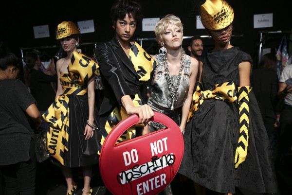 "Moschino Spring/Summer 2016 RTW ""Do Not Enter"" bag. Image: WWD"