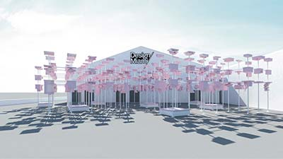 A rendering of the 2015 pavilion at Design Miami