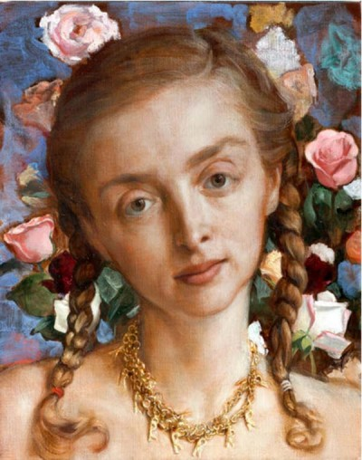 "John Currin, ""Rachel In The Garden"""