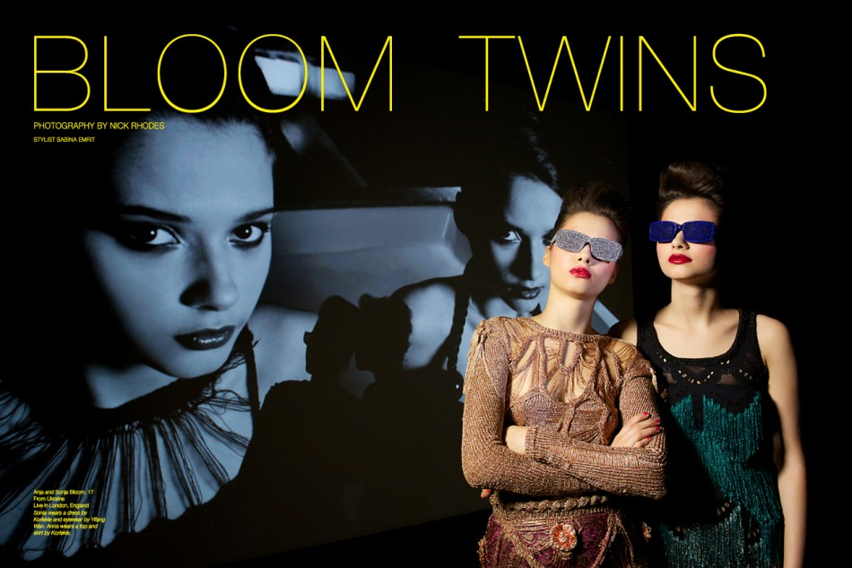 The Bloom Twins - Photography by Nick Rhodes for The Untitled Magazine
