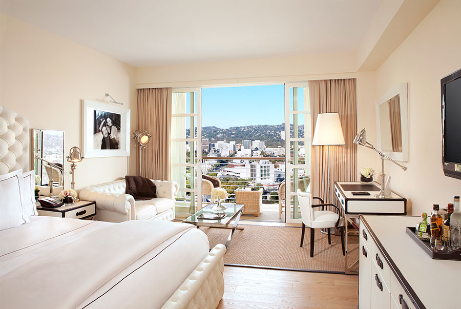 A premium guestroom at Mr.C Beverly Hills